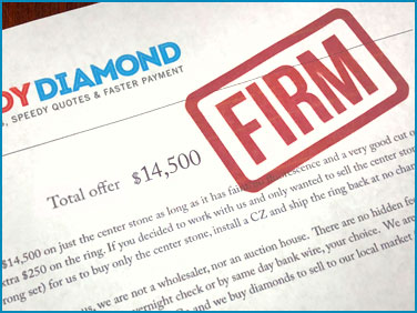 firm offer for a diamond
