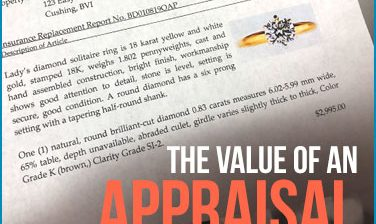 The value of a diamond appraisal with selling an engagement ring